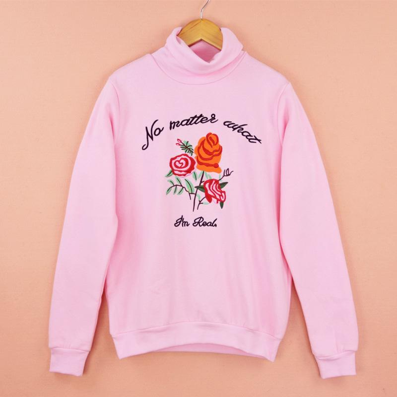 I'm Real Pink Sweatshirt - Shop Minu (sweatshirt) Korean Aesthetic Asian Women's Fashion