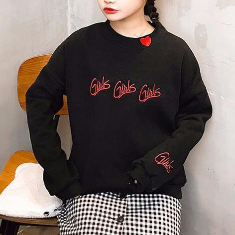 Girls Sweatshirt - Shop Minu (sweatshirt) Korean Aesthetic Asian Women's Fashion
