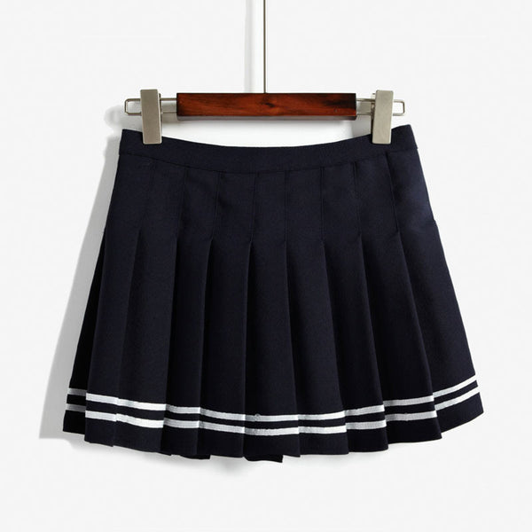 Striped Skirt - Shop Minu (skirt) Korean Aesthetic Asian Women's Fashion