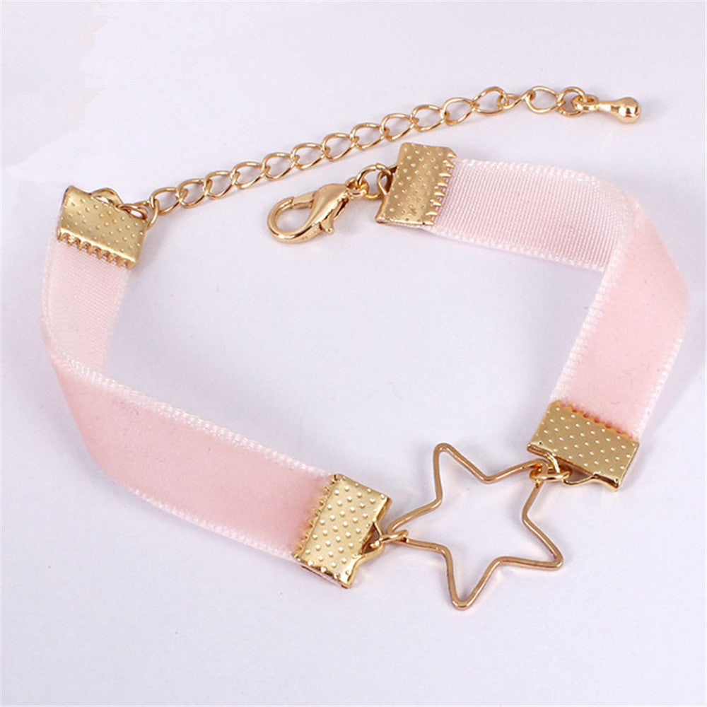 Star Velvet Bracelet - Shop Minu (bracelet) Korean Aesthetic Asian Women's Fashion