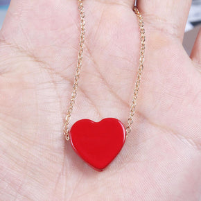 Heart Charm Necklace - Shop Minu (necklace) Korean Aesthetic Apparel & Accessories