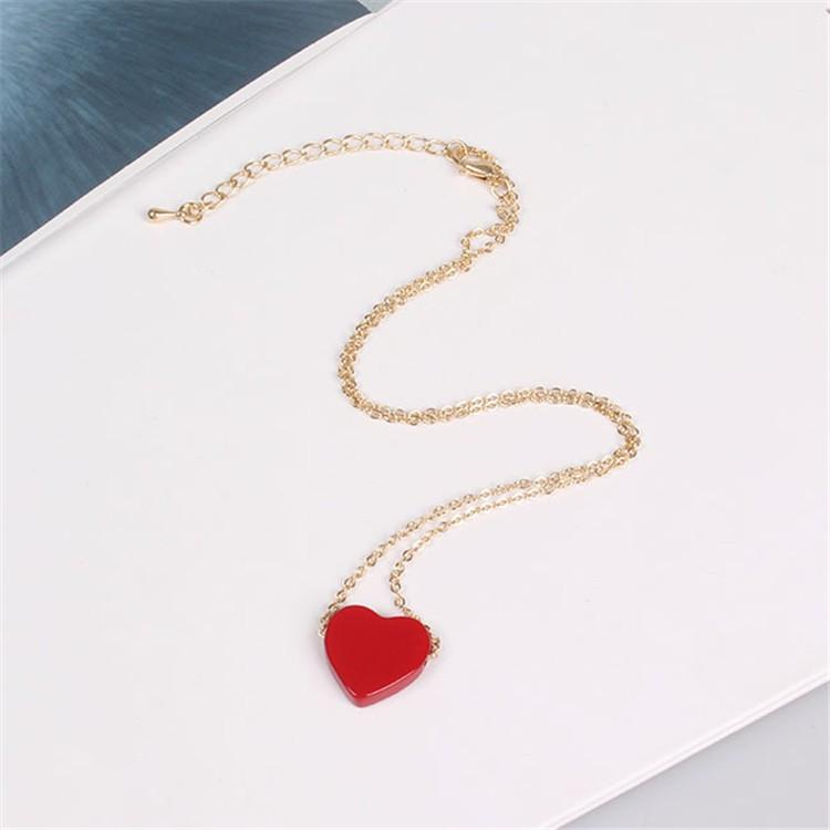 Heart Charm Necklace - Shop Minu (necklace) Korean Aesthetic Asian Women's Fashion