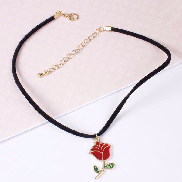 Rosy Choker - Shop Minu (necklace) Korean Aesthetic Asian Women's Fashion