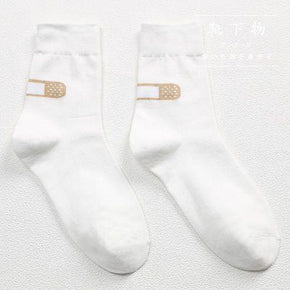 Band Aid Socks - Shop Minu (socks) Korean Aesthetic Asian Women's Fashion