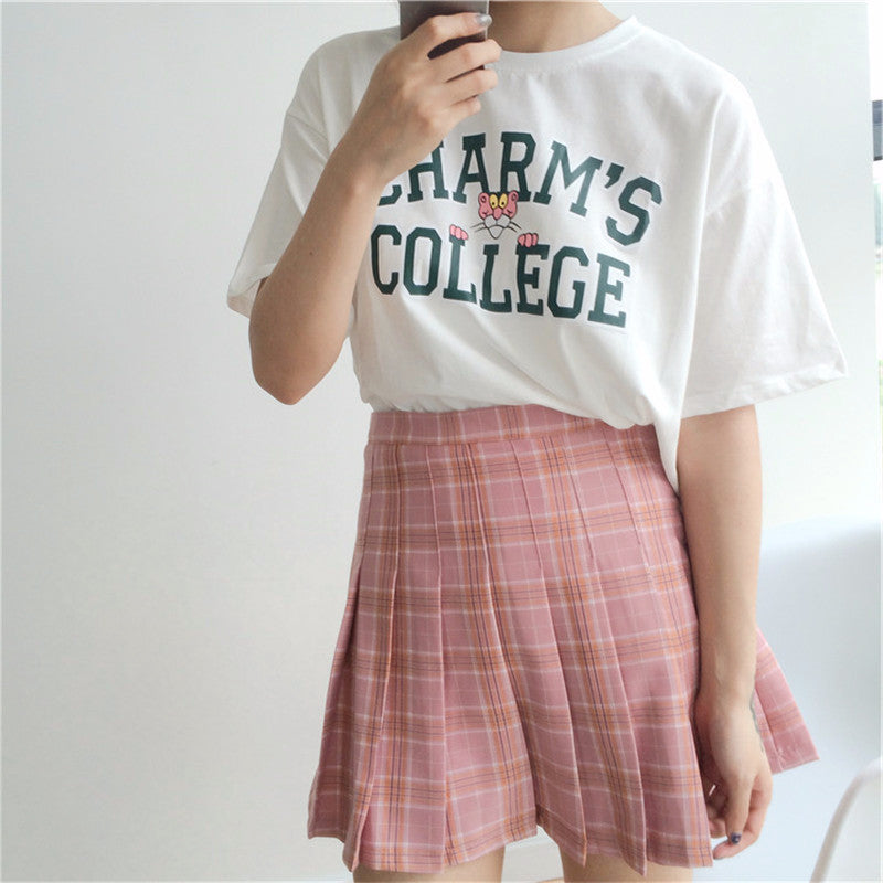 Vintage Style Plaid Skirt - Shop Minu (skirt) Korean Aesthetic Asian Women's Fashion