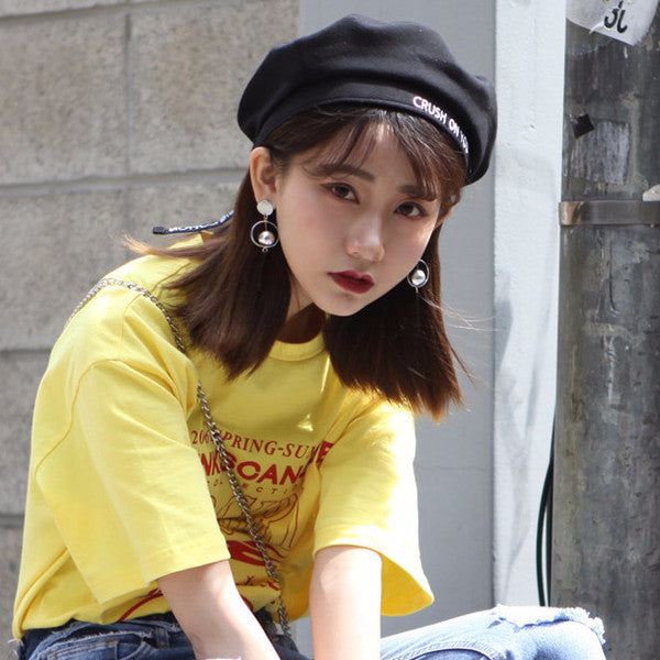 Crush on You Beret - Shop Minu (hat) Korean Aesthetic Asian Women's Fashion