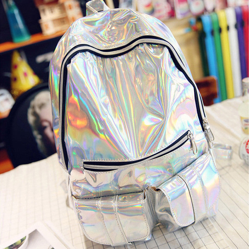 Holographic Backpack - Shop Minu (bag) Korean Aesthetic Asian Women's Fashion