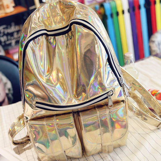 Holographic Backpack - Shop Minu (bag) Korean Aesthetic Apparel & Accessories