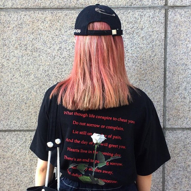 Poetry T-Shirt - Shop Minu (shirt) Korean Aesthetic Apparel & Accessories