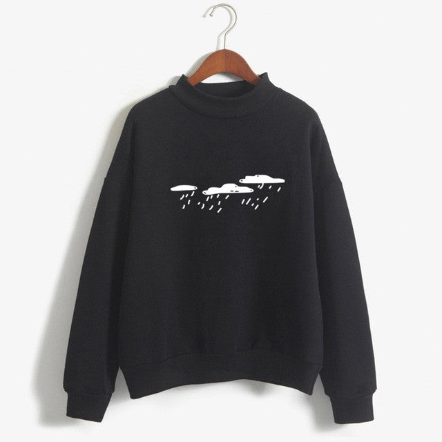 Rain Clouds Sweatshirt - Shop Minu (sweatshirt) Korean Aesthetic Asian Women's Fashion