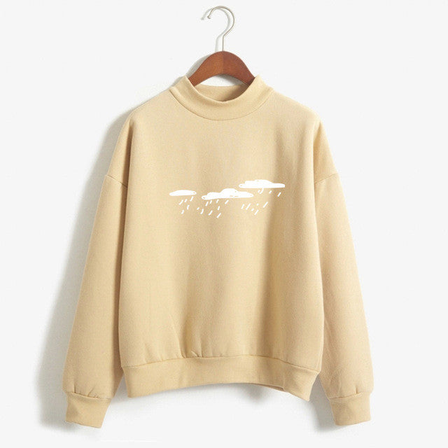 Rain Clouds Sweatshirt - Shop Minu (sweatshirt) Korean Aesthetic Apparel & Accessories