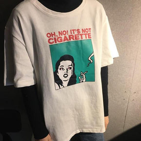 Oh No T-Shirt - Shop Minu (shirt) Korean Aesthetic Apparel & Accessories