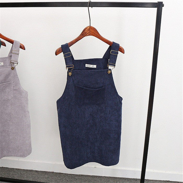 Corduroy Overall Dress - Shop Minu (dress) Korean Aesthetic Apparel & Accessories