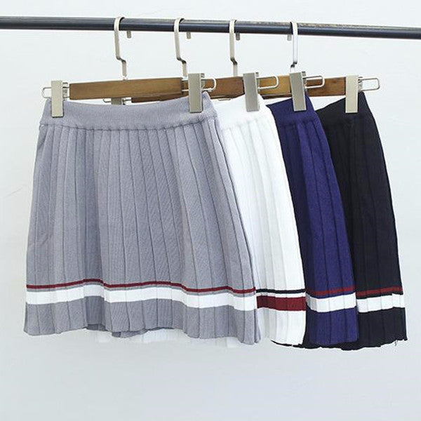 Pleated Knit Skirt - Shop Minu (skirt) Korean Aesthetic Apparel & Accessories