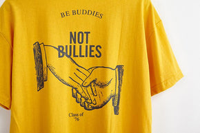 Buddies Not Bullies T-Shirt - Shop Minu (shirt) Korean Aesthetic Apparel & Accessories