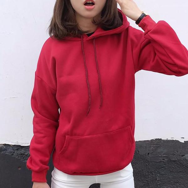 Basic Hoodie - Shop Minu (hoodie) Korean Aesthetic Asian Women's Fashion