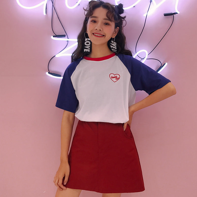 Heart Club T-Shirt - Shop Minu (shirt) Korean Aesthetic Apparel & Accessories