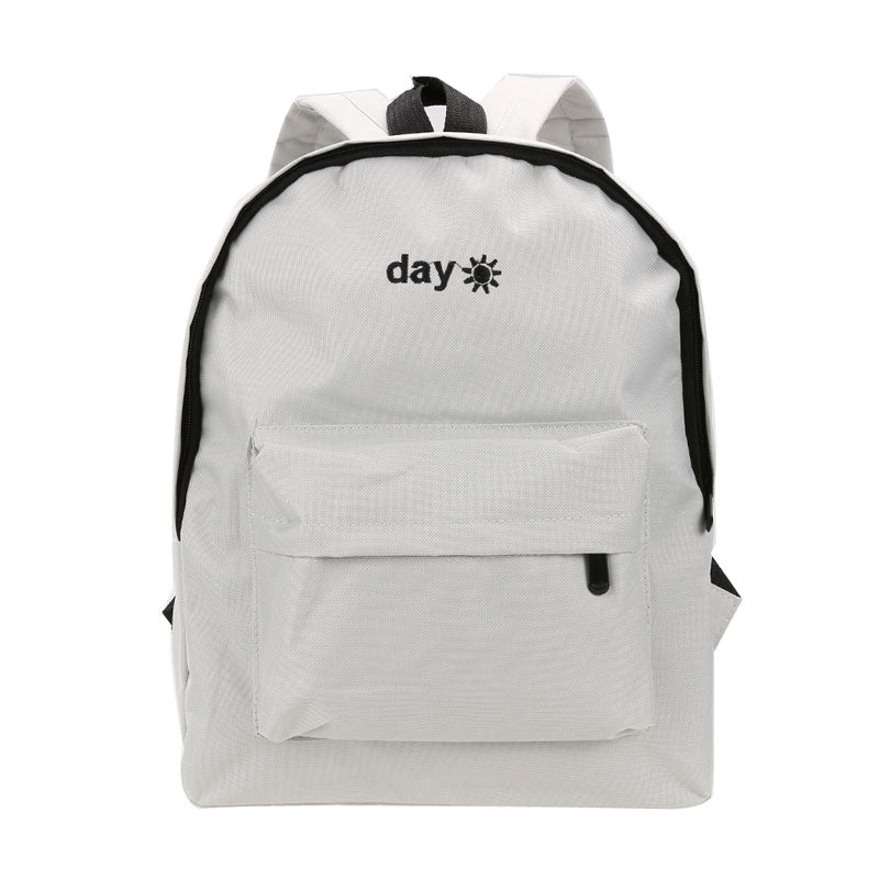 Day and Night Embroidered Backpack - Shop Minu (bag) Korean Aesthetic Apparel & Accessories