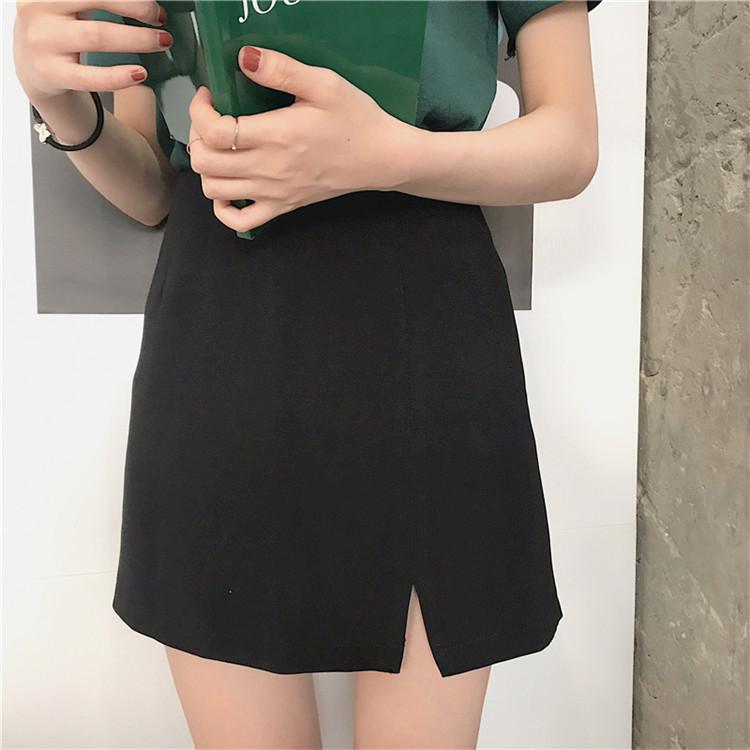 Solid A-Line Skirt - Shop Minu (skirt) Korean Aesthetic Asian Women's Fashion