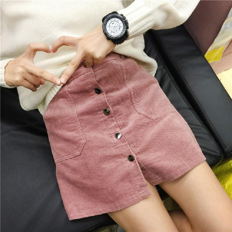 High Waist Corduroy Skirt - Shop Minu (skirt) Korean Aesthetic Asian Women's Fashion