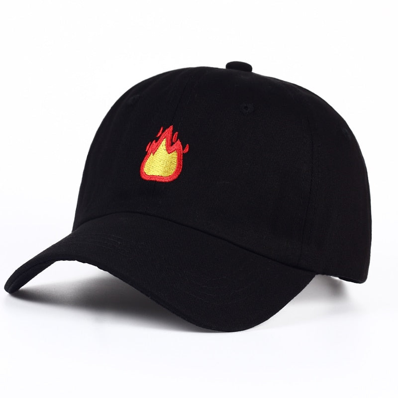 Fire Emoji Embroidered Hat - Shop Minu (hat) Korean Aesthetic Apparel & Accessories