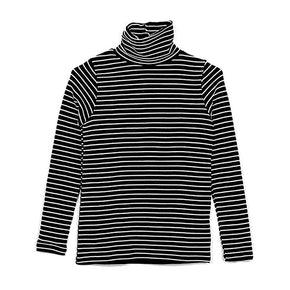 Basic Striped Turtleneck - Shop Minu (sweater) Korean Aesthetic Apparel & Accessories