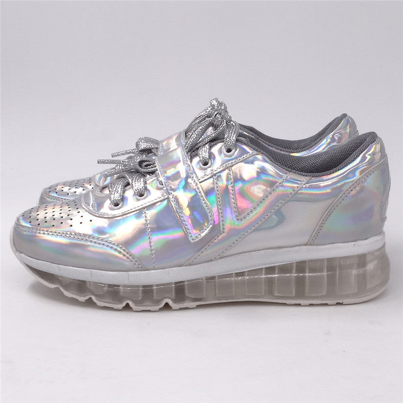 Hologram Platform Sneakers - Shop Minu (shoes) Korean Aesthetic Apparel & Accessories