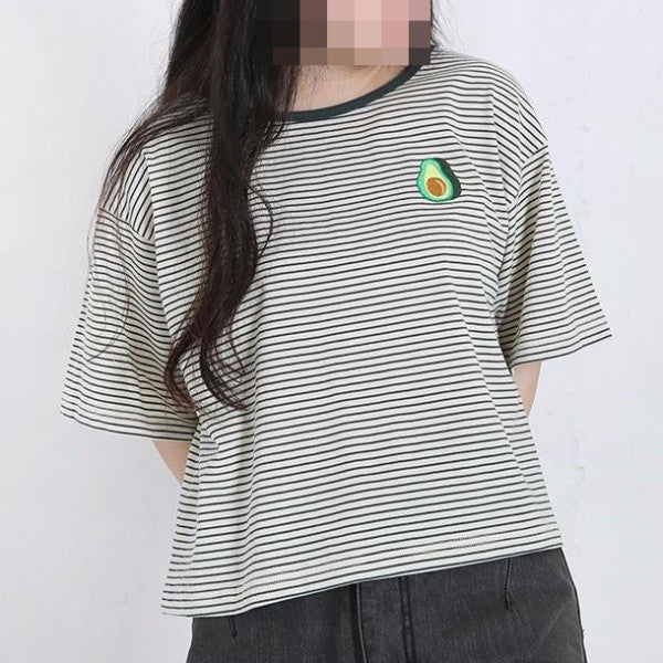 Avocado Tee - Shop Minu (shirt) Korean Aesthetic Asian Women's Fashion