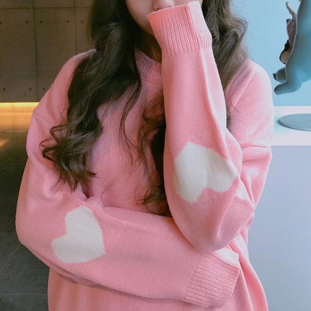 HEART ELBOW SWEATER