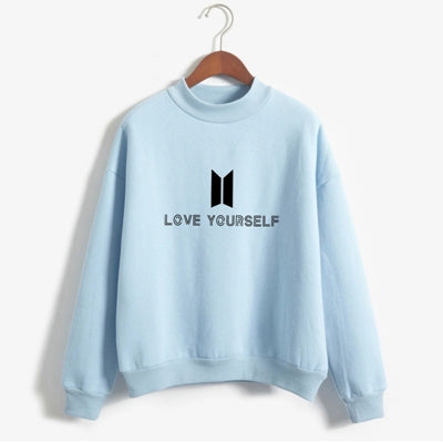 BTS Love Yourself Kpop Sweatshirt - Shop Minu (sweatshirt) Korean Aesthetic Asian Women's Fashion