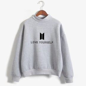 BTS Love Yourself Kpop Sweatshirt - Shop Minu (sweatshirt) Korean Aesthetic Apparel & Accessories