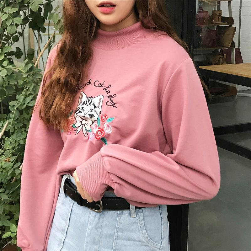 Cat Lady Sweatshirt - Shop Minu (sweatshirt) Korean Aesthetic Asian Women's Fashion