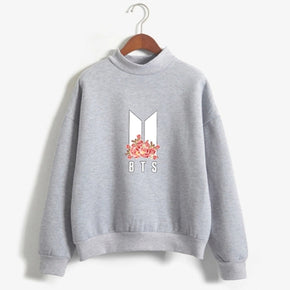 BTS Kpop Floral Sweatshirt - Shop Minu (sweatshirt) Korean Aesthetic Asian Women's Fashion