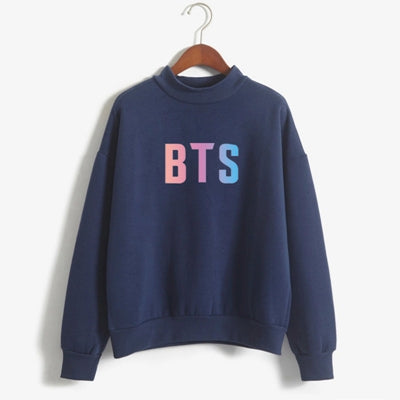 BTS Kpop Pastel Gradient Sweatshirt - Shop Minu (sweatshirt) Korean Aesthetic Asian Women's Fashion