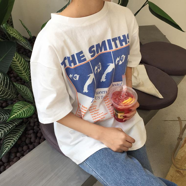 The Smiths Vintage Style Tee - Shop Minu (shirt) Korean Aesthetic Asian Women's Fashion