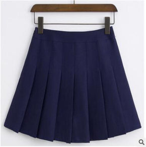 High Waist Pleated Skater Skirt - Shop Minu (skirt) Korean Aesthetic Apparel & Accessories