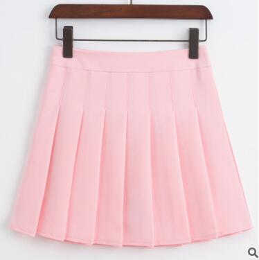 High Waist Pleated Skater Skirt - Shop Minu (skirt) Korean Aesthetic Asian Women's Fashion
