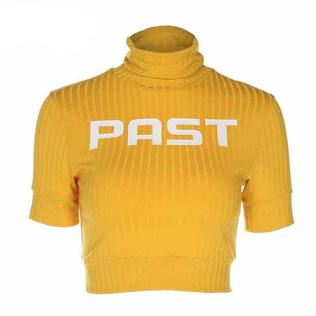 Gold Past Cropped Turtleneck - Shop Minu (sweater) Korean Aesthetic Apparel & Accessories