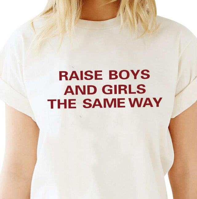 Raise Boys and Girls the Same Way T-Shirt - Shop Minu (shirt) Korean Aesthetic Apparel & Accessories