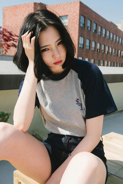 Dolphin Summer Tee - Shop Minu (shirt) Korean Aesthetic Asian Women's Fashion