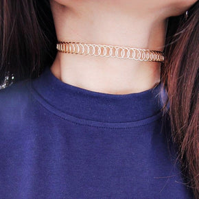 Coil Choker - Shop Minu (necklace) Korean Aesthetic Asian Women's Fashion