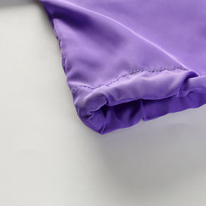 Cropped Purple Drawstring Jacket - Shop Minu (jacket) Korean Aesthetic Apparel & Accessories