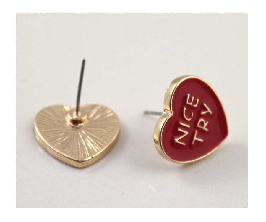 Nice Try Earrings - Shop Minu (earrings) Korean Aesthetic Apparel & Accessories