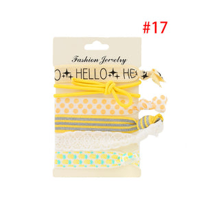 Elastic Hair Tie 6 Pack - Shop Minu (hair accessories) Korean Aesthetic Apparel & Accessories