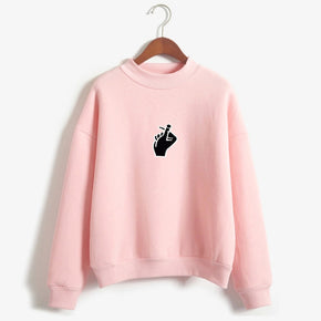 Hand Snap Sweatshirt - Shop Minu (sweatshirt) Korean Aesthetic Asian Women's Fashion