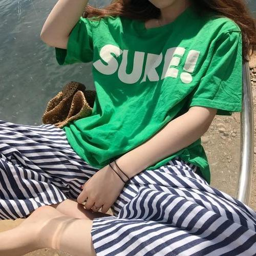 Sure Tee - Shop Minu (shirt) Korean Kpop Asian Women's Fashion