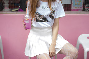 Michelangelo Aesthetic Tee - Shop Minu (shirt) Korean Aesthetic Asian Women's Fashion