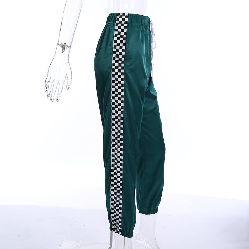 High Waist Checkerboard Pants - Shop Minu (pants) Korean Aesthetic Apparel & Accessories