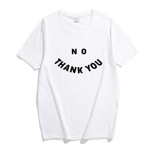 No Thank You T-Shirt - Shop Minu (shirt) Korean Aesthetic Apparel & Accessories