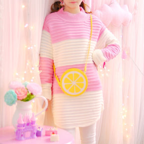 Rainbow Pastel Long Sweater - Shop Minu (sweater) Korean Aesthetic Apparel & Accessories